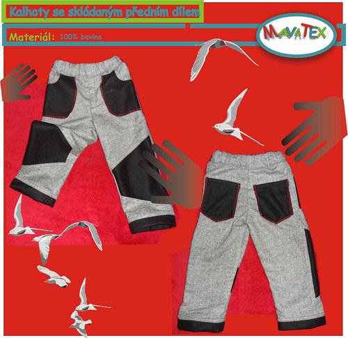 kalhoty se členěným předním dílem