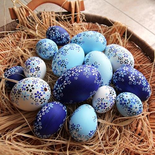 Husí kraslice modré
