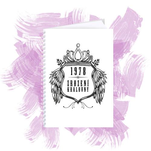 Zápisník s motivem - zrození královny 2
