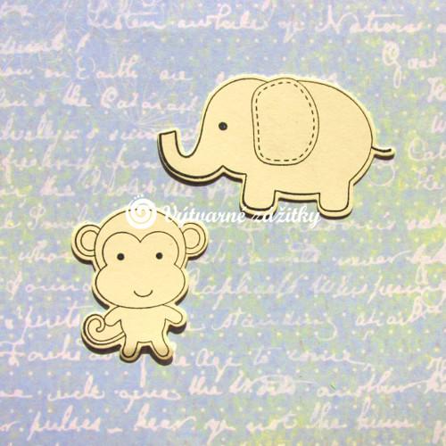 Slon a opička