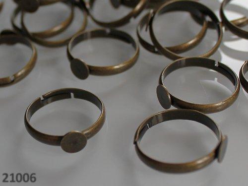 21006 Prsten základ BRONZ s lůžkem 6mm,  á 1ks