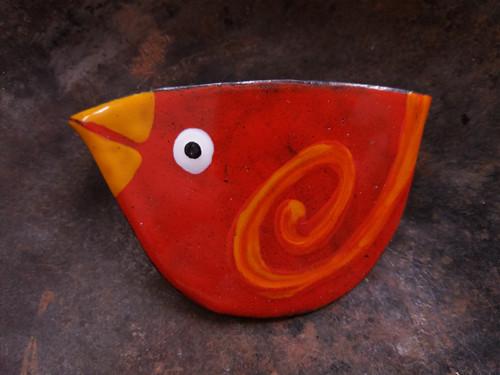 SPONA červený pták