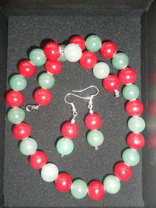 Nahrdelnik z nefritu a korálu
