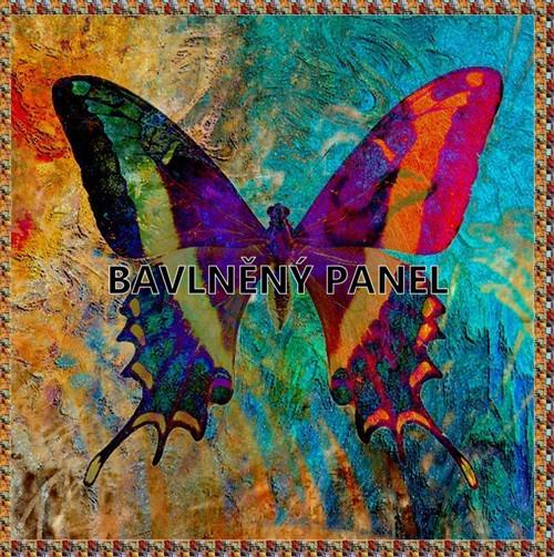 bavlněná látka - panel  27 x 27 cm