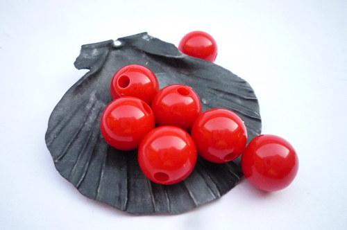 akrylové korálky 6 ks - 10 mm