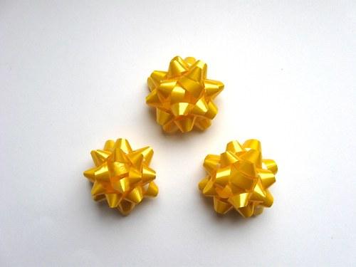 Mašlička - žlutá 3ks (4cm)