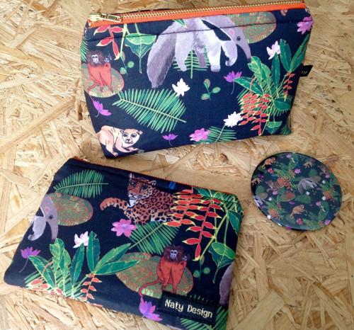 zvířata amazonské kosmetické tašky