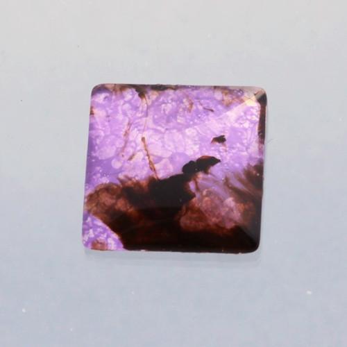Kabošon: sklo, čtverec 2*2 cm