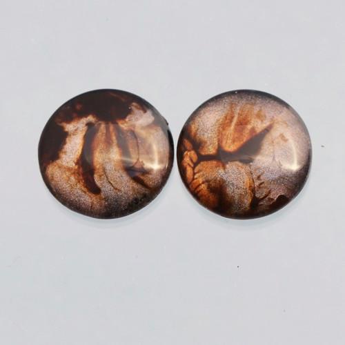 2 kabošony: sklo, 16 mm