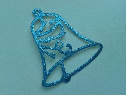 Zvoneček - modrý třpytivý
