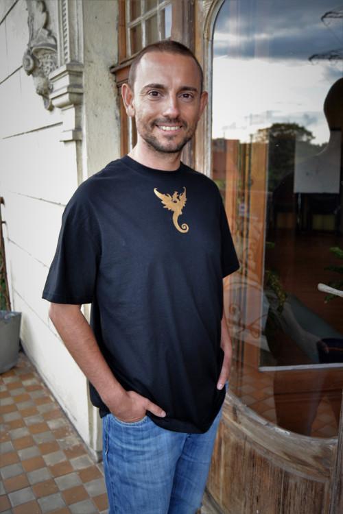 Pánské triko zlatý drak