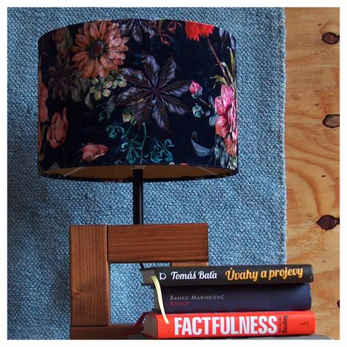 Julie - sametové stínidlo na lampu