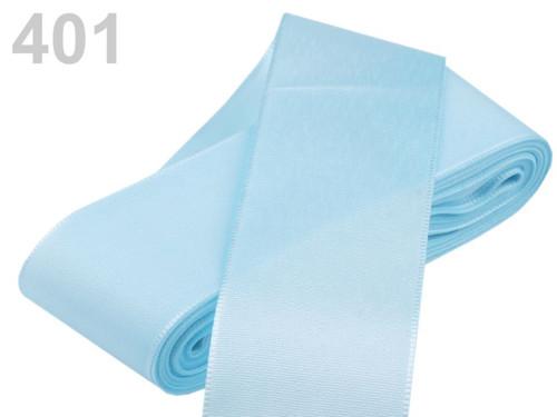 Taftová stuha 72mm (10m) - modrá ledová
