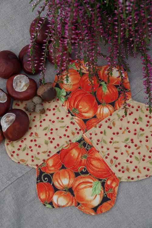 Podzimní podšálky s dýní
