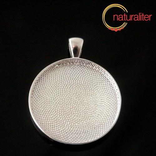 Výprodej - Lůžko kruh 30mm stříbrná barva, hluboké