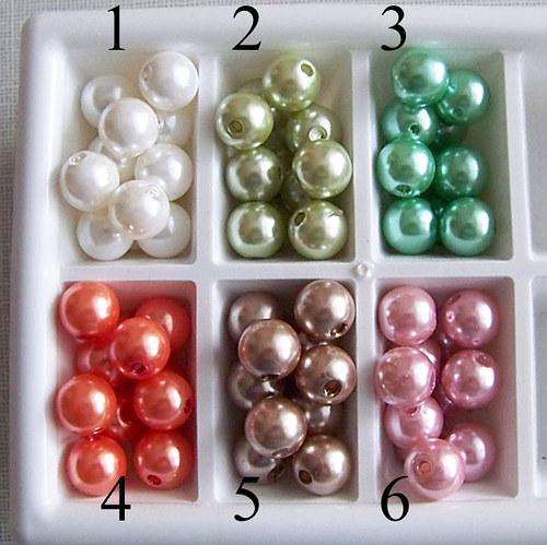 perly voskové/ oranžová  č.4/ 11,5mm/ 6ks