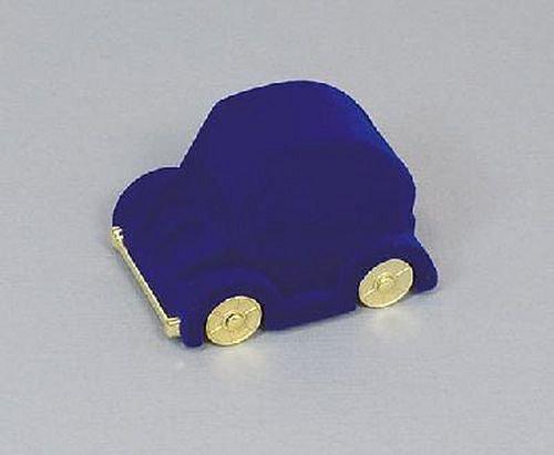 Sametová krabička na šperky - modré autíčko