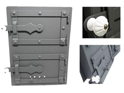 Přikládací štít pro kachlovou pec