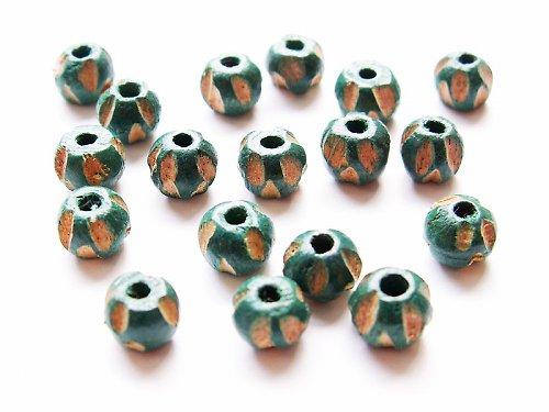 Malinká zelená vyřezávaná kulička-II.jakost((D33))