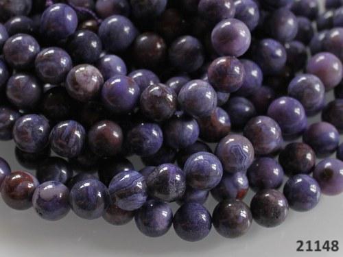 21148 ACHÁT crazy lace fialový kuličky 8mm,  2ks