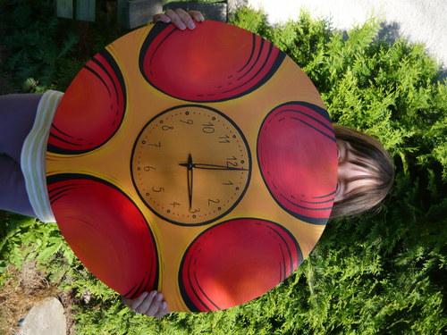 !!! SLEVA Velké malované hodiny - průměr 50cm!!!