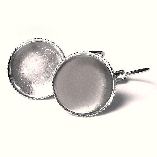 Visací naušnice - kruh 14 mm - 1 pár