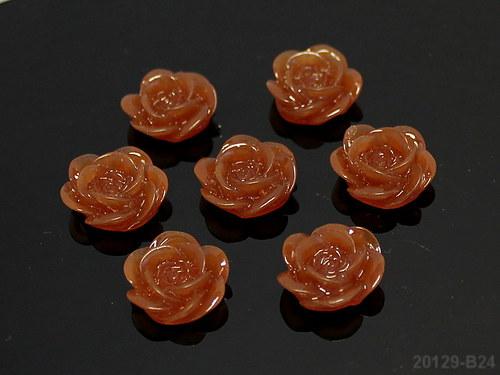 20129-B24 Kabošon květ 18/7 HNĚDÝ, bal. 2ks