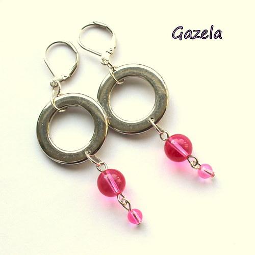 Náušnice Kruhy v růžovém