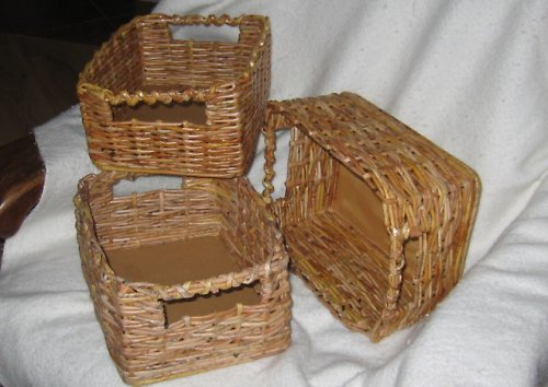 košíky z papíru