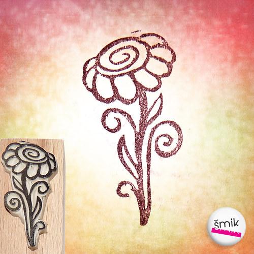 květinka – razítko