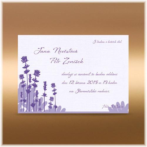 Svatební oznámení levandule C6