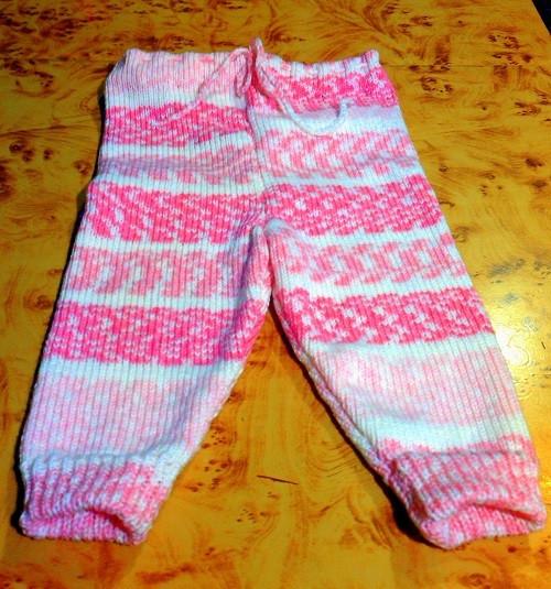 kojenecké pletené kalhoty
