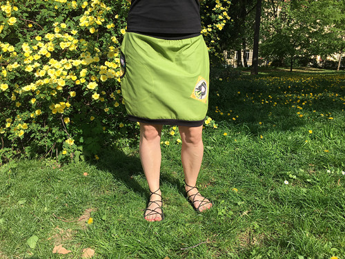 Sukýnka zelená panenková
