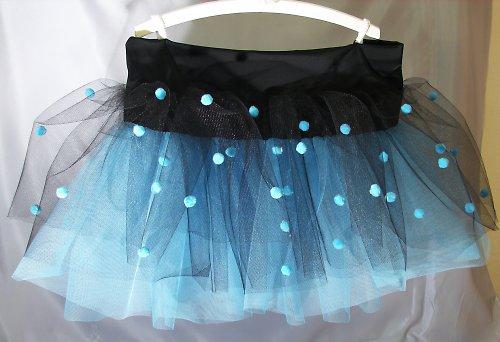 Sukně černo-modrá bambulková (6-10 let)