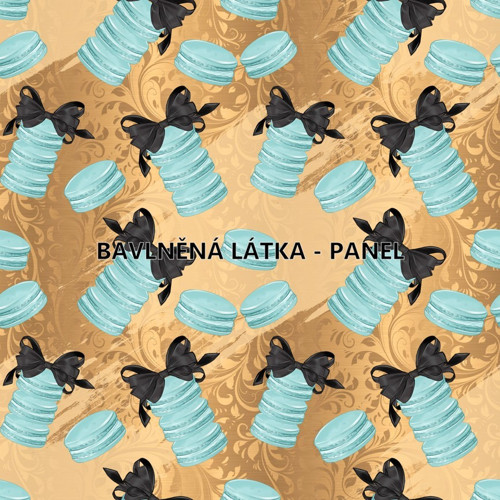 bavlněná látka - panel 16 x 16 cm KOLEKCE TIFANI