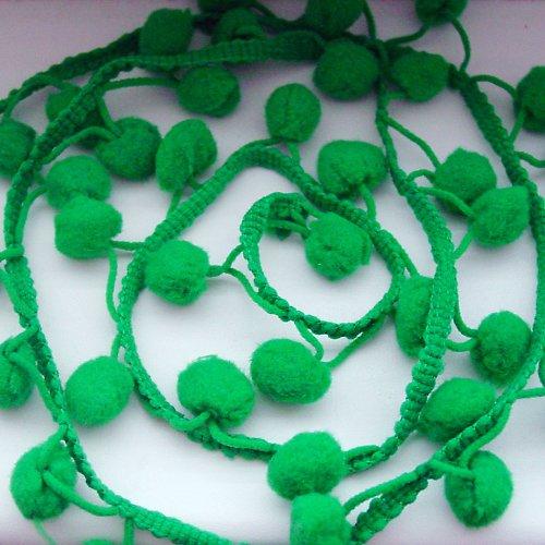 Bambulkový prýmek zelený - 10 cm