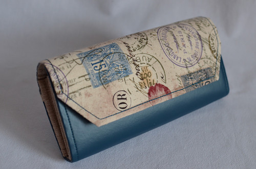 Peněženka - poštovní razítka