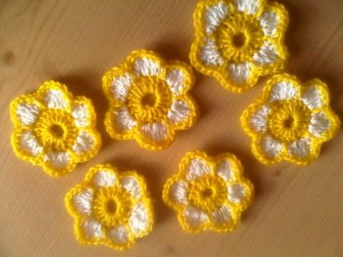 žluto- bílá kytička