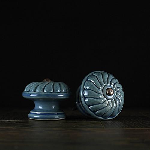 úchyt - knopek  modrý - vzor č. 2 VELKÝ