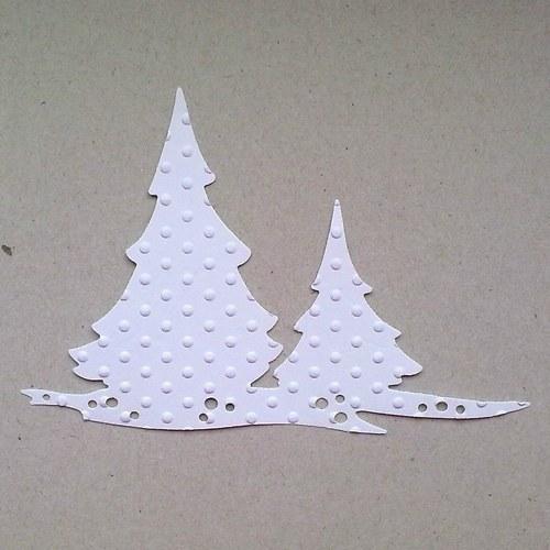 Výsek - Dva stromky embosovaný
