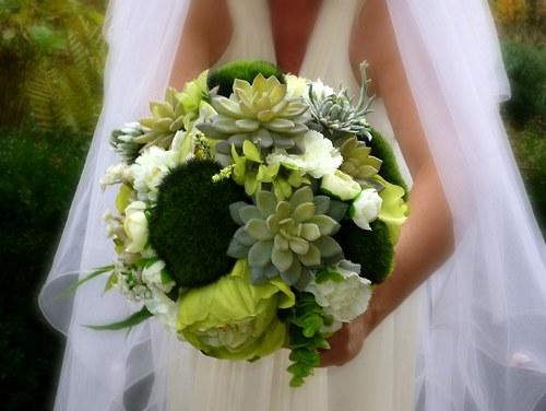 Svatební kytice Mechová + korsáž