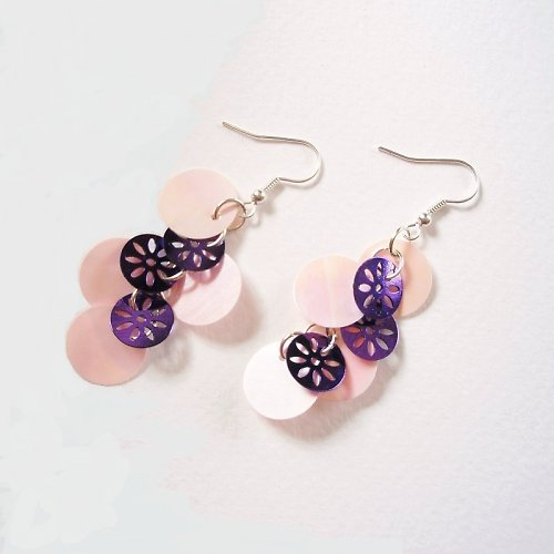 Náušnice Pink Violette