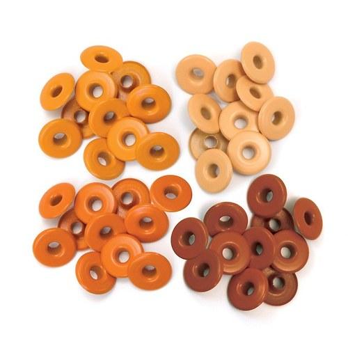Průchodky široké 40ks - 3/16, cca 5 mm oranžové