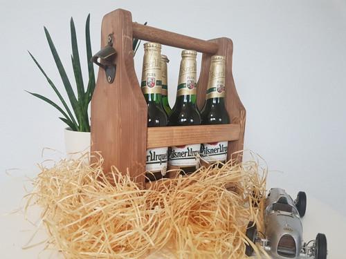 Dřevěný nosič na pivo 0,5l