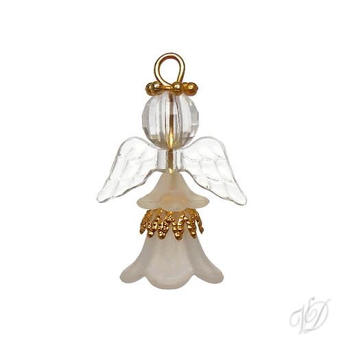 Korálkový andělíček pro štěstí D (KO232)