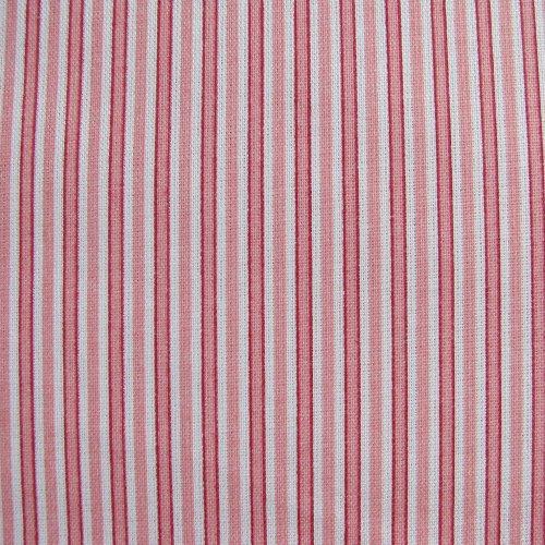 látka 100% bavlna - růžovočervené pruhy