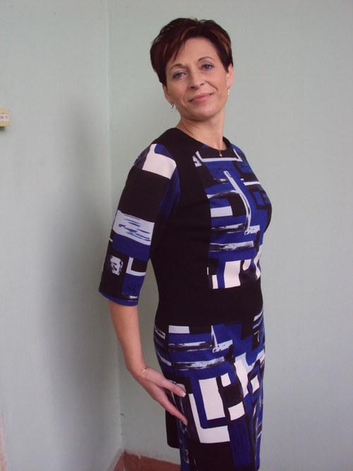 Šaty modrý vzor