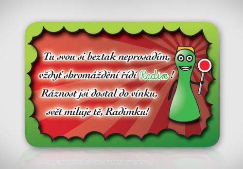 Poetická magnetka se jménem Radim