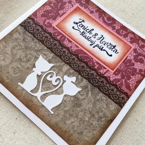 Svatební přáníčko s obálkou
