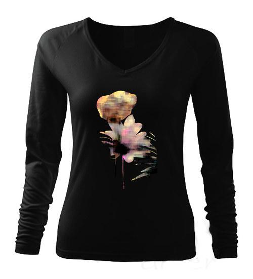 Dámské triko s dlouhým rukávem,,Květy,,
